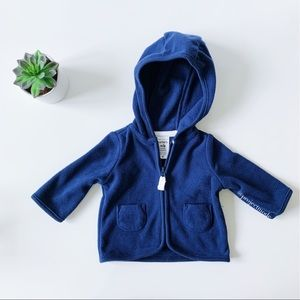 Carter's Zip-Up Fleece Cardigan- Size Newborn NWOT